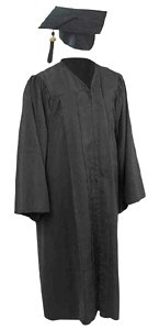 Bachelors Gowns - Black Color in Matte Finish