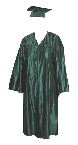High School Gown - FOREST GREEN