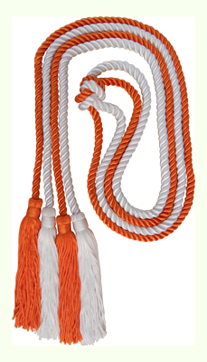 Honor Cord - ORANGE AND WHITE COLOR